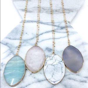 Agatha Agate Stone Necklaces